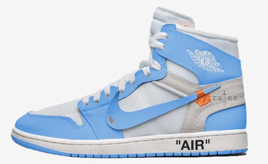 "ec64c68ed958 (Rendering of what to expect from the Off-White x Air Jordan 1 ""Powder Blue""  via  py rates)"