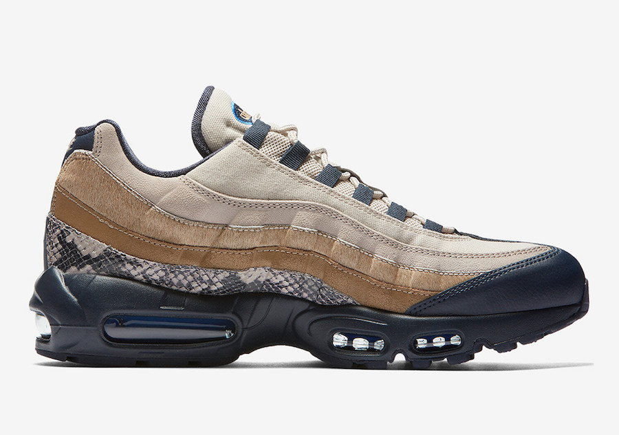 brand new 5fd04 8e0ef ... Max 95 SnakeSkin now at select Nike Sportswear retailers like Finish  Line. Peep a look below and be sure to pick up this unique pair, the retail  price ...