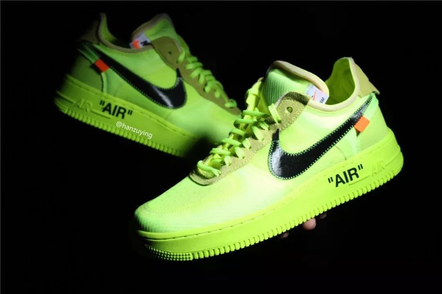 """e52e955c032193 ... Off-White X Nike Air Force 1 Low """" Volt"""" hitting the stores in November  2018 or early 2019"""