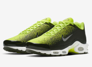67deb62b33 A New Spray Painted Nike Air Max Plus Is Releasing In Volt And Black